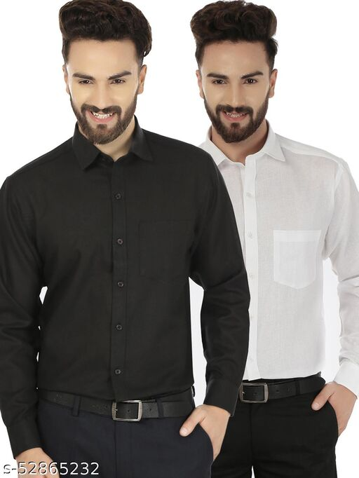 solid casual shirts
