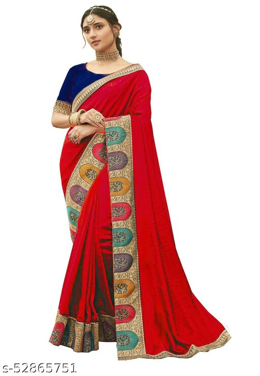 21st Fashion  Embroidered Bollywood Poly Silk Saree