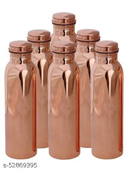 Oxyjal Pure Plain Copper Water Bottle with Ayurvedic Benefits for Yoga, Fitness and Personal Use (Copper, 1000ml)