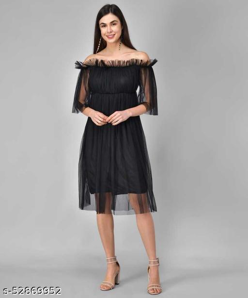 Trending Black Net Dress