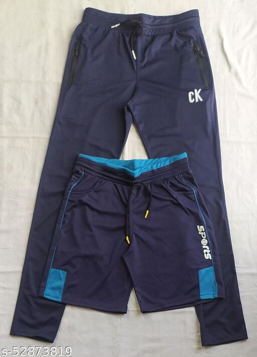 Track pants with active shorts