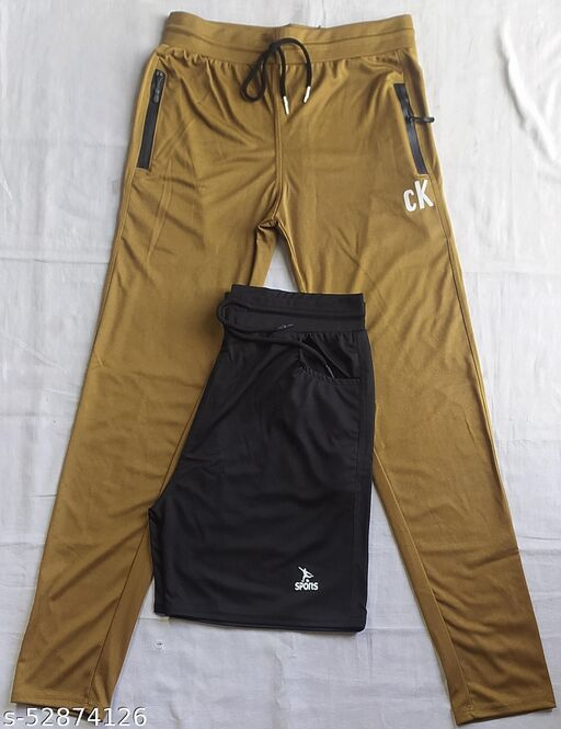 Track pant with active shorts