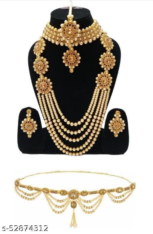 Allure Unique Jewellery set And Kamarband combo set