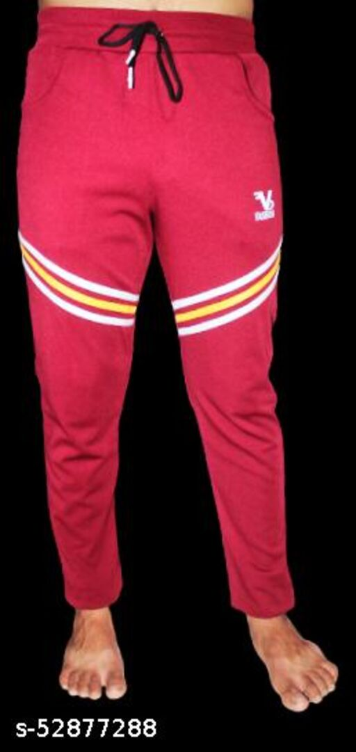 VBF TRENDING MEN'S TRACK PANTS WITH STRIPS ON KNEE (\/)