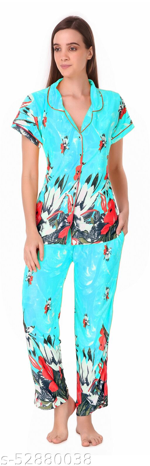 pipen print nightsuit blue