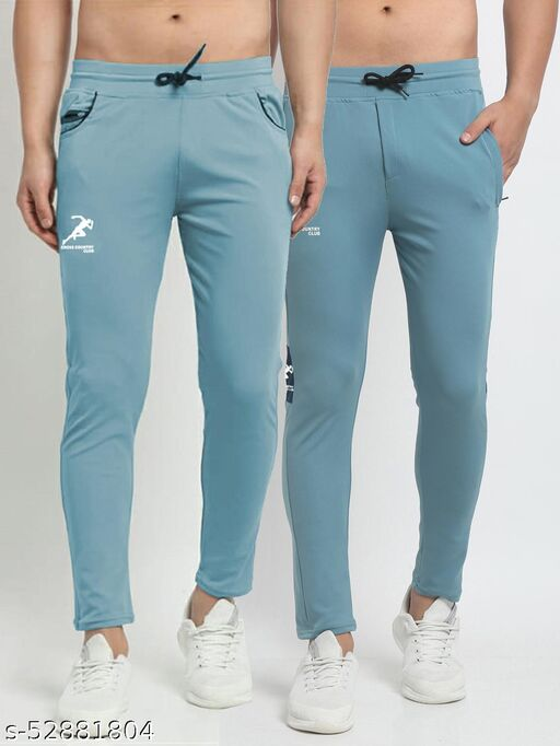 Men's Sky Blue Cross Country Club Dry Fit Four Way lycra Track Pant
