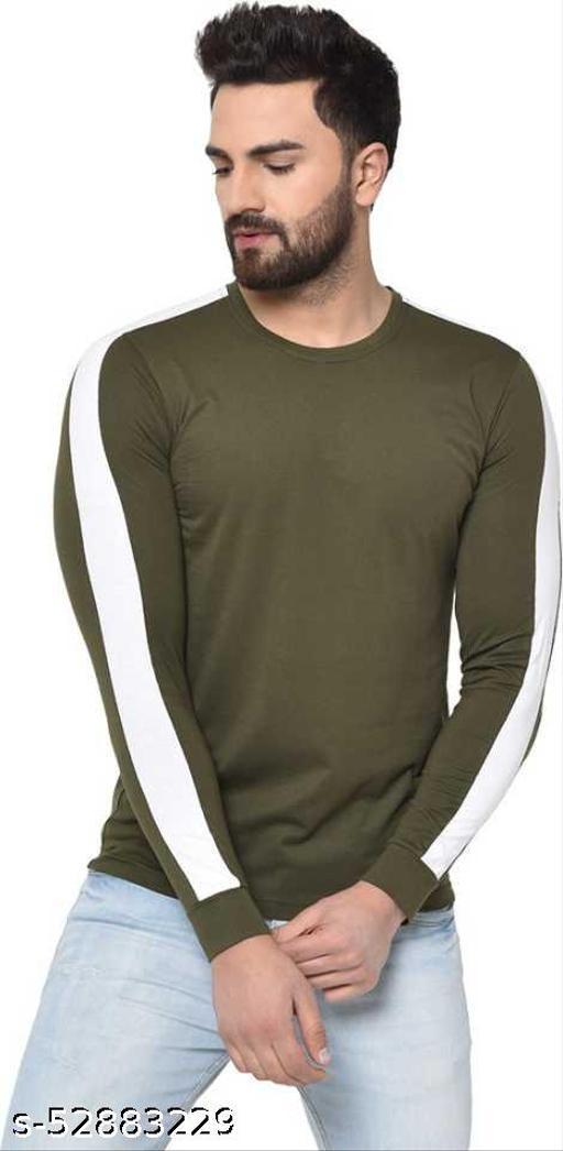 Pagalpan  Solid Men Round Neck Green T-Shirt