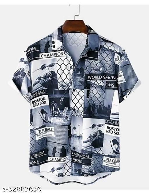 Classy Vouge Men's  Cotton Casual Half Sleeve Shirt