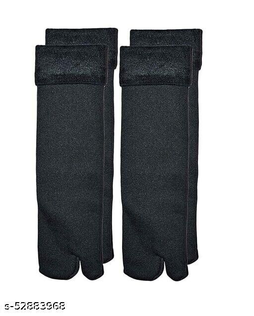 fur warm black socks