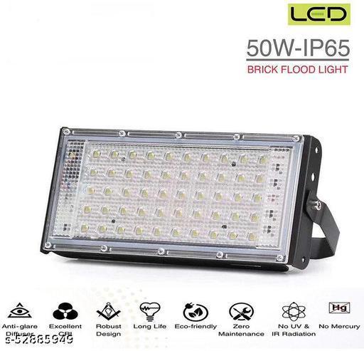 BRIO LED FLOOD LIGHT 50W AC 85V-265V WATER RESISTANT CRYSTAL WHITE  (PACK OF 4)