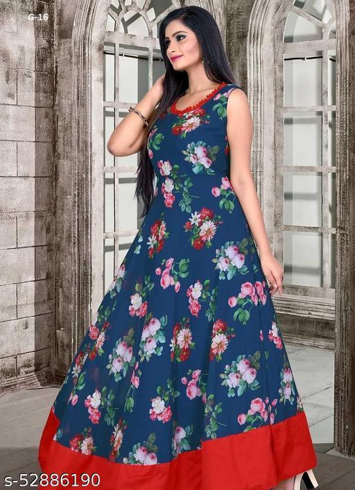 Designer sleeveless georgette gown