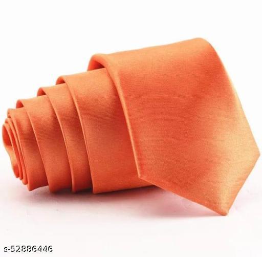 Fashionable Trendy Men Ties  orange