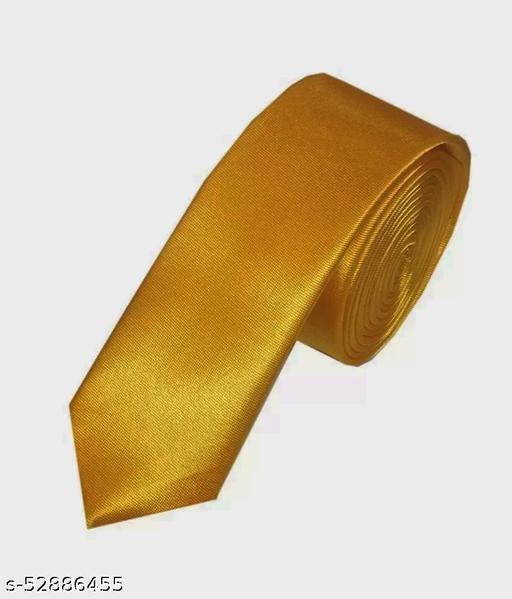 Fashionable Trendy Men Ties golden