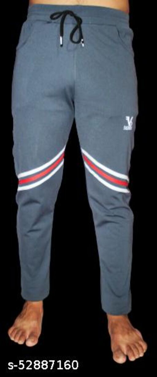 VBF TRENDING MEN'S TRACK PANTS WITH STRIPS ON KNEE (/\)