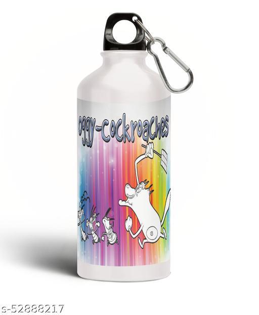 PARTY GLITERS oggi Printed Aluminium 600ml White Sipper Bottle/Water Bottle for Kids share Smile- Best Birthday Gift for Boys, Girls, Kids, Return Gift - OGGI-21