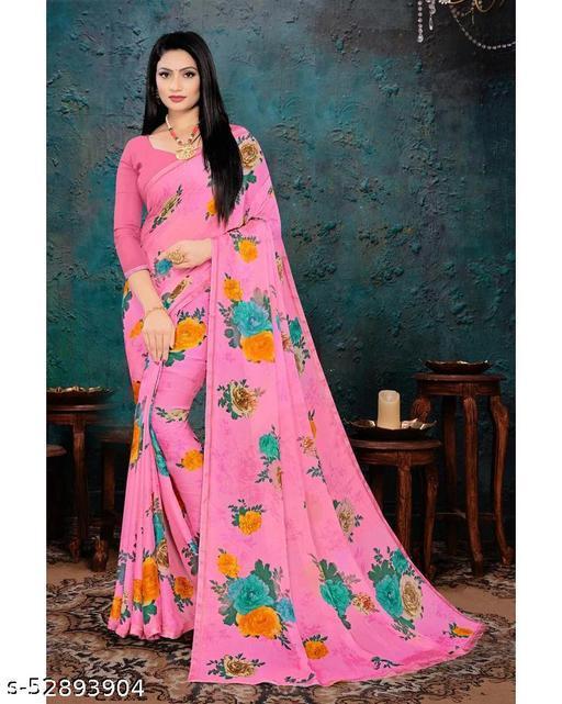 Chiffon Floral Regular Saree