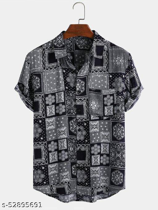 Stylish Glamorus Men Half Sleeve Shirt  (Ready-Made)