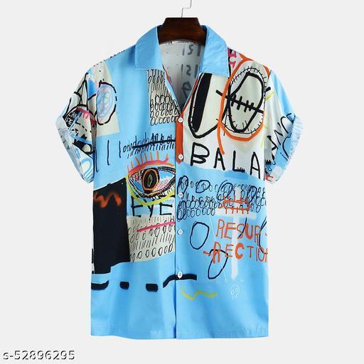 Digital Men Half Sleeve Shirt (Ready-Made)