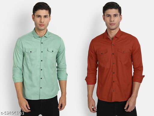 UNITED CLUB MEN'S COTTON CASUAL SHIRTS COMBO