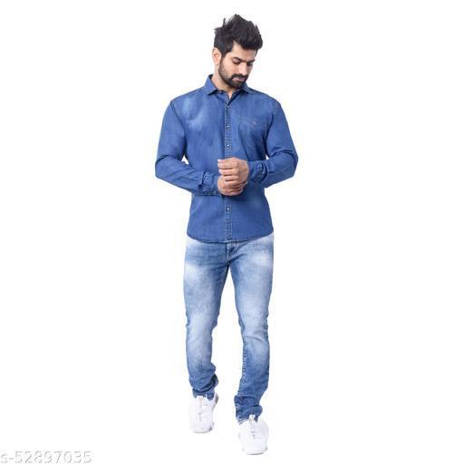 Denim Full Sleeve Shirt - Blue