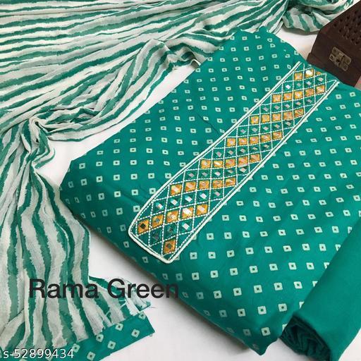 Stylish Lawn Cotton Bandhani Printed Suit