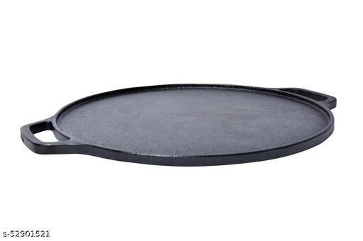 Trogon Pre-Seasoned Cast Iron Dosa Tawa, Compatible for Cooking on Gas, Induction and Electric Cooktops, 12 inches