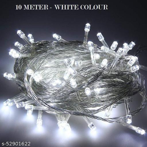 Colorulful Diwali/ FestivaLight for Indoor & Outdoor Decorating Ladi, Diwali Decorative Festival Lights - 10 Meter each (Set of 3)- White Color Light