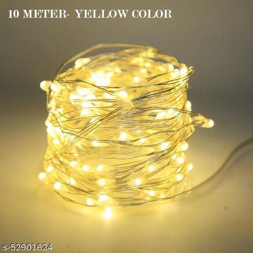 Colorulful Diwali/ FestivaLight for Indoor & Outdoor Decorating Ladi, Diwali Decorative Festival Lights - 10 Meter each (Set of 3)- Yellow Color Light