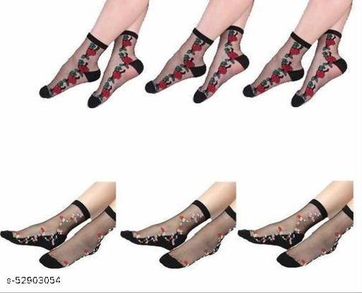 transparent printed socks with thumb