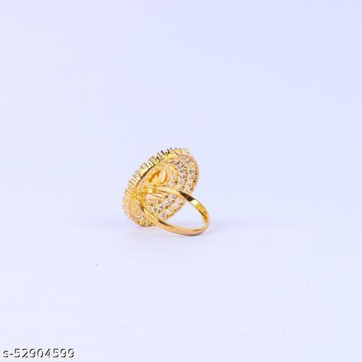 Yellow Stud Elegant Ring For Girls/Women