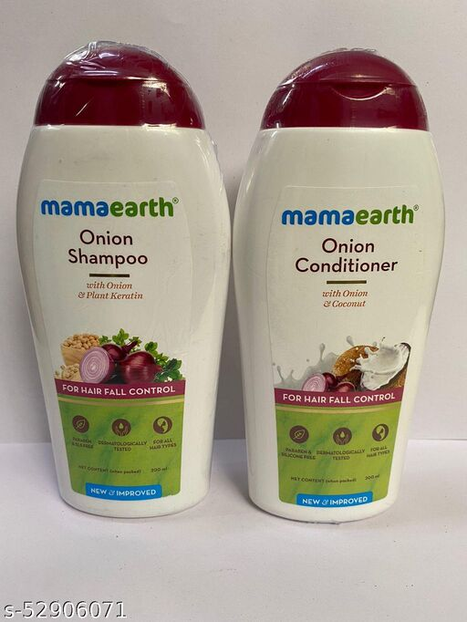 MAMAEARTH ONION SHAMPOO & CONDITIONER 200ML for hair fall control ( PACK OF 2 )
