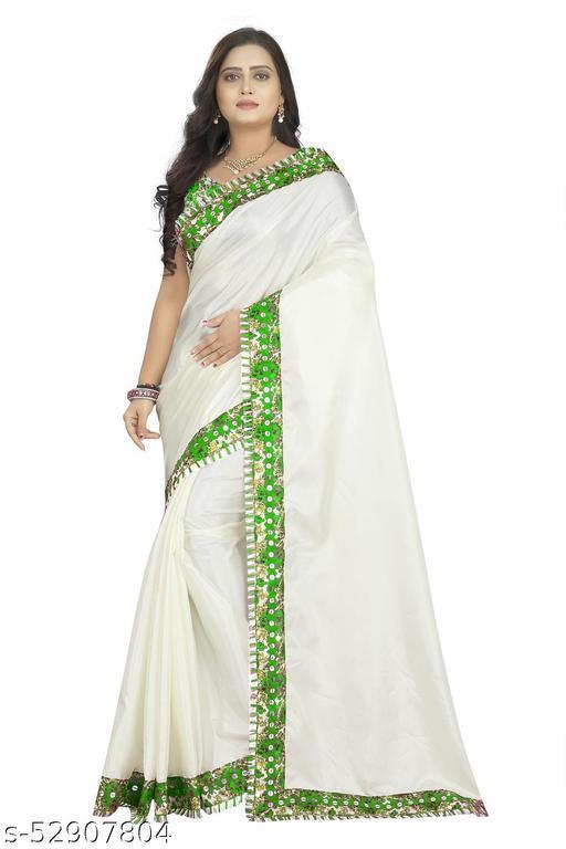 Digital Paper Silk Green & White Saree