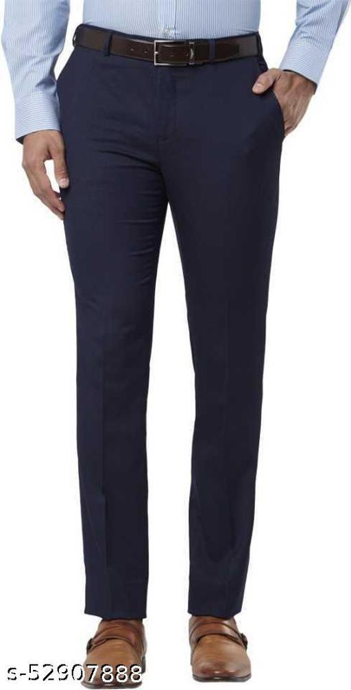 Makhkha MEN Navy BLUE Formal Trouser