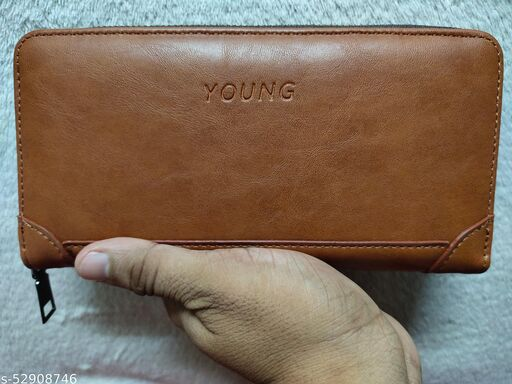 NEW CLASSIC HEAVY LEATHER WALLET WITH LONG BELT FOR WOMEN AND GIRLS YOU CAN CARRY CARDS MONEY MOBILE PHONE AND SMALL ACCESSORIES