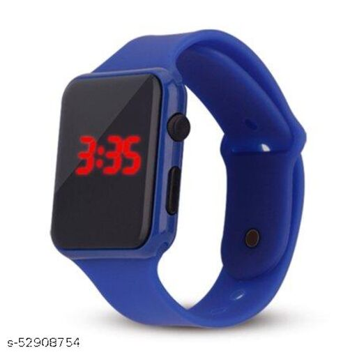 Digital Black Dial Led Watch for Kids Unisex Birthday Gift Digital Watch - for Boys & Girls