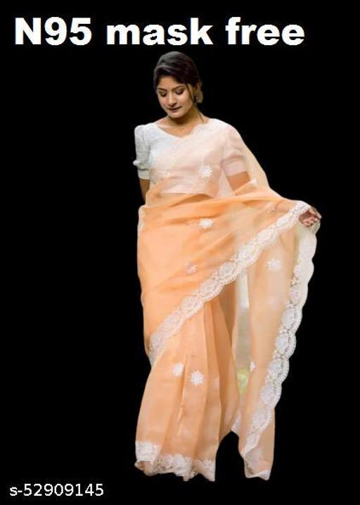 white work sari