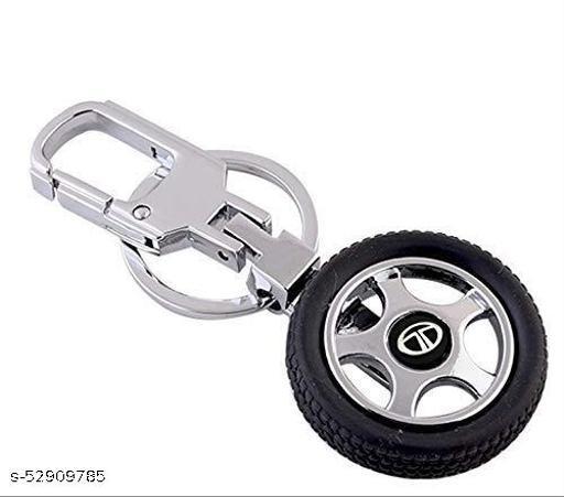 Riddhi Siddhi Rotary Tyre TATA Key chain Keyring FOB Logo key ring keychain Silver