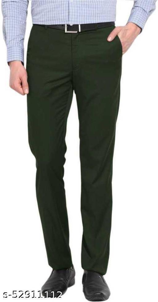 Makhkha Dark GREEN Formal solid trouser