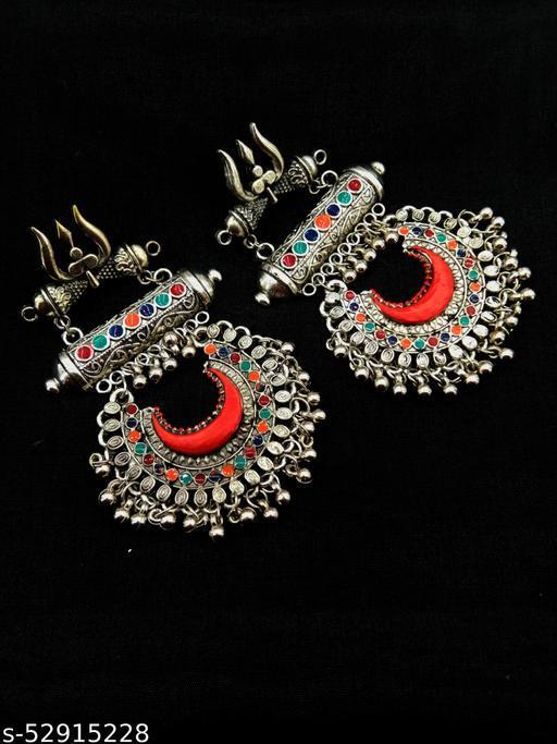 Trishul design earring