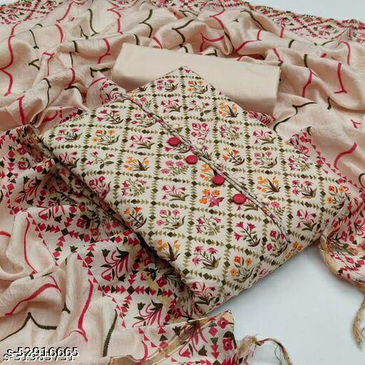 Super Quality Cotton Kurti + botttom + Dupatta material