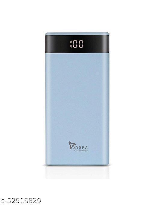 Syska Power Gain Digital Display Lithium Polymer 10000 mAh Power Bank (P1003 Blue)