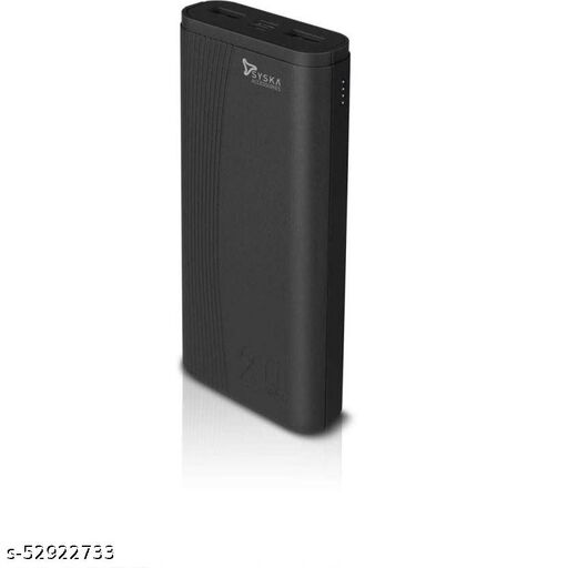 Syska Power Booat 200 Lithium Polymer 20000 mAh Dual USB Port Power Bank (P2005J Black)