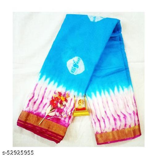 Bangalori Bandini Print Sarees Pink Blue