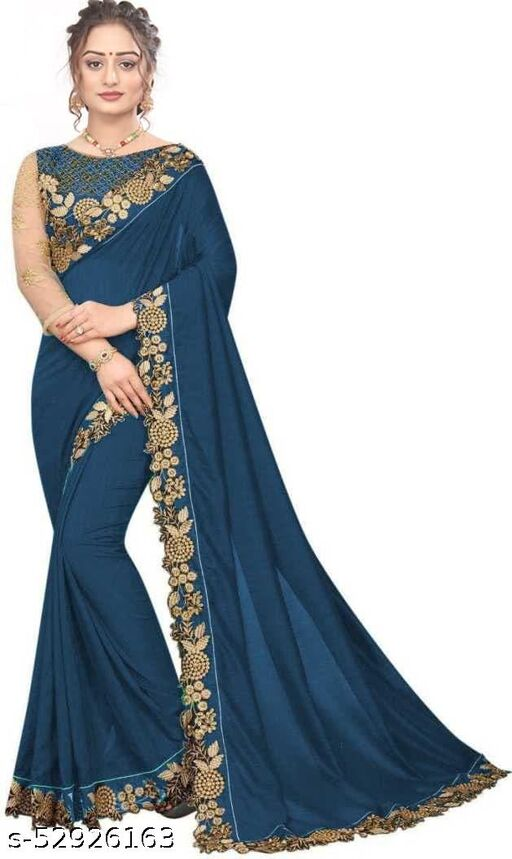 Women's Georgette Printed Saree With Blouse Piece