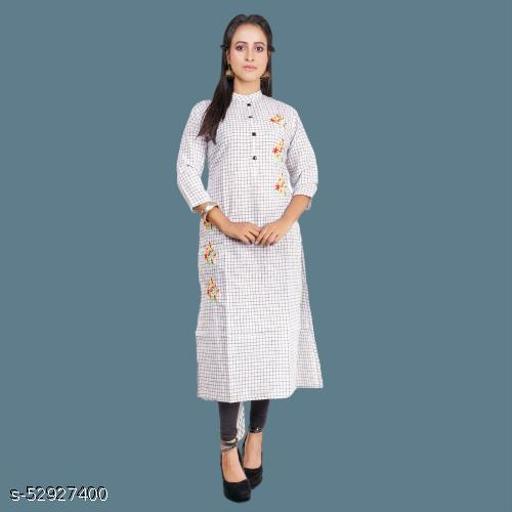 Indrani Fashionable long Embroidery Cotton Kurti