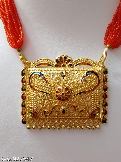 Golden Necklace in Rajasthani Style