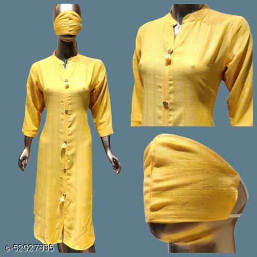 Indrani Fashionable long  Cotton Kurti