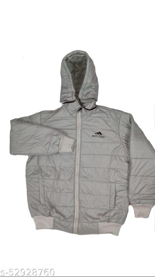 adidas grey full sleeve jacket