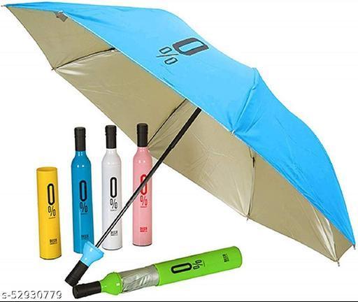 Stylish Printed Bottle Umbrella  (Multi color)