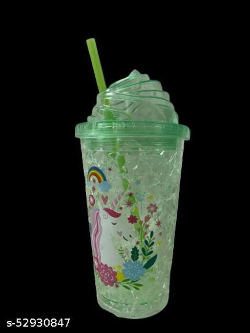 Unicorn Water Bottle with Straw